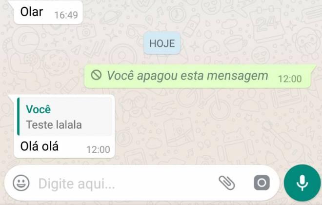 Nem todas as mensagens do WhatsApp podem ser apagadas; entenda 1