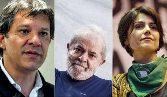 Haddad e Manuela afirmam que farão campanha em nome de Lula 1