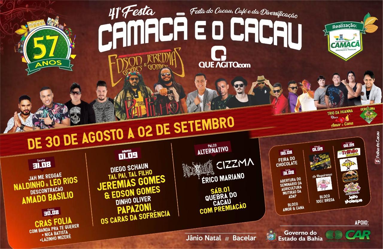 Acontece neste final de semana a 41ª Festa Camacã e o Cacau 1