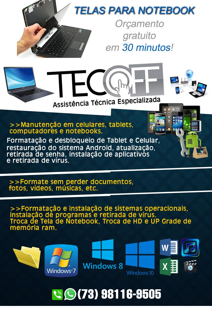 Tecoff Informatica - Formatação de Notebook & Computadores  por R$ 35,00 Reais Aceitamos Cartão de Crédito. 1