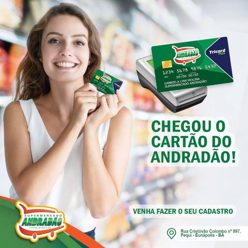CHEGOU O CARTÃO DO ANDRADÃO  VENHA FAZER O SEU ! 1