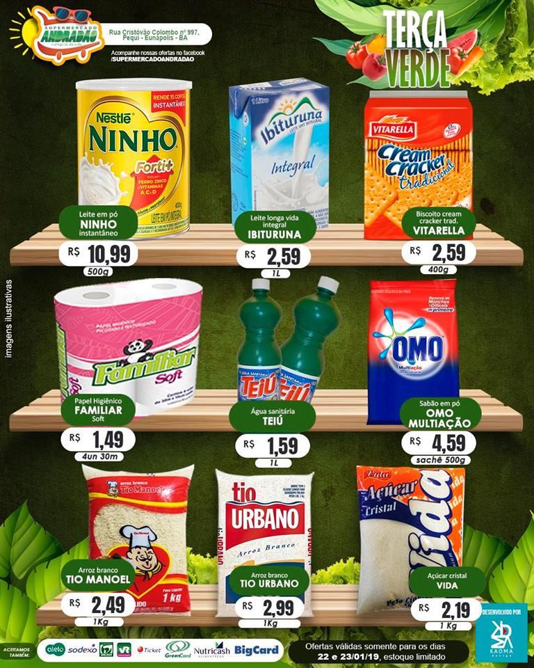 23/01/2019 – Confiram as ofertas desta Quarta Maluca – Supermercado Andradão 2