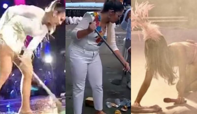 """Marília Mendonça """"imita"""" Claudia Leitte e Ivete Sangalo, limpa o chão e divide opiniões 1"""