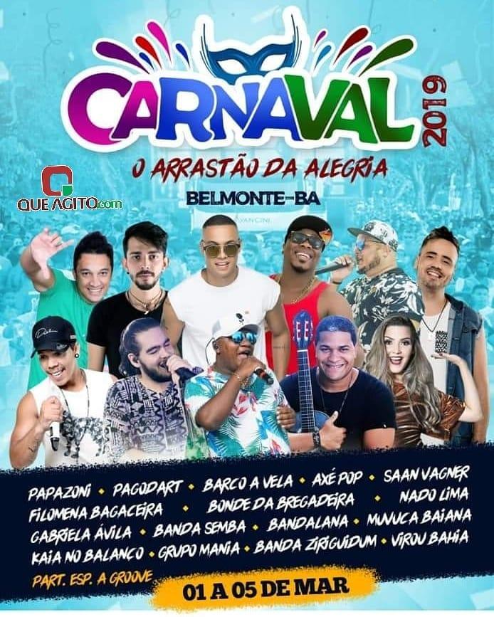 Carnaval de Belmonte 2019  O arrastão da alegria de 01 à 05 de março. 1