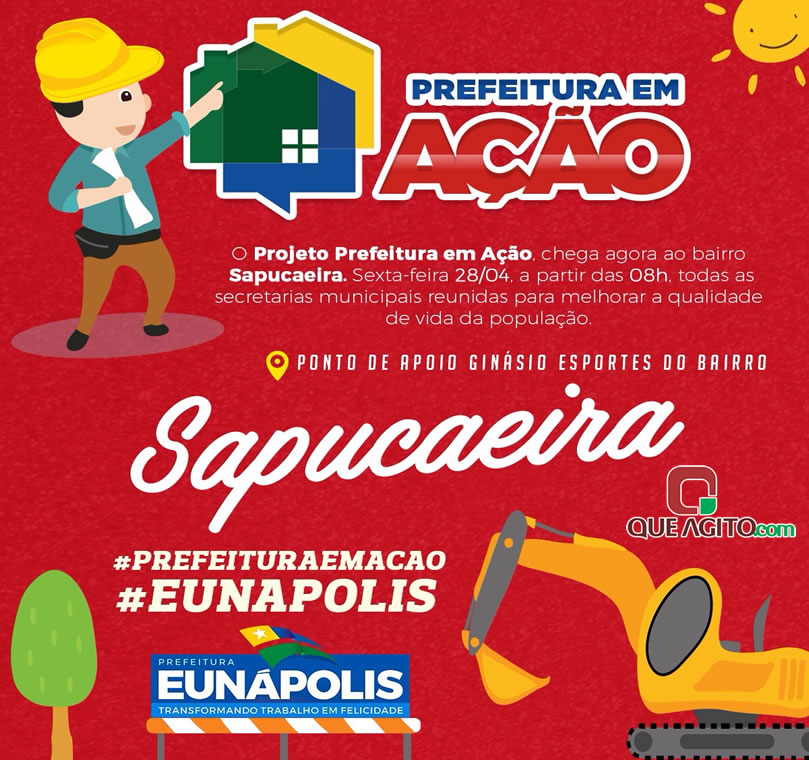 Prefeitura em Ação acontecerá nesta sexta-feira (28/04) no bairro Sapucaeira 25