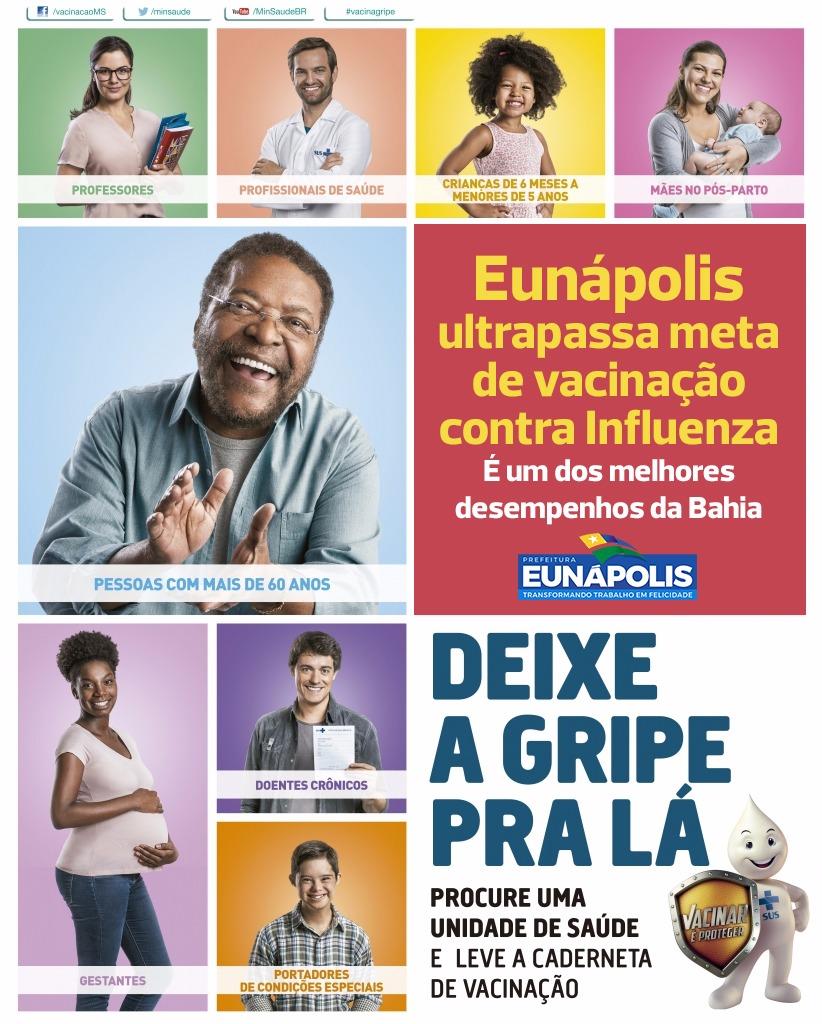 Eunápolis ultrapassa meta de vacinação contra Influenza 42