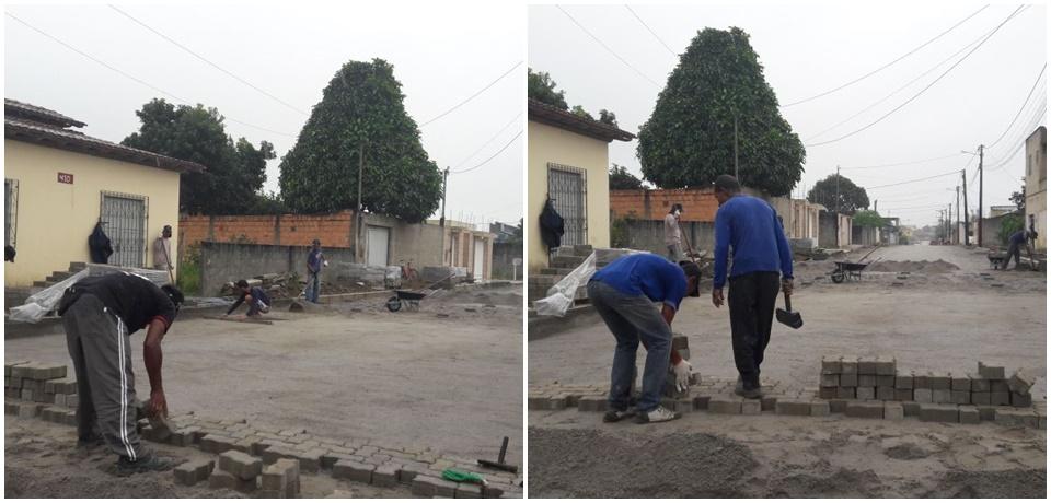 Obras de pavimentação no Dinah Borges avançam mesmo sob chuva 48
