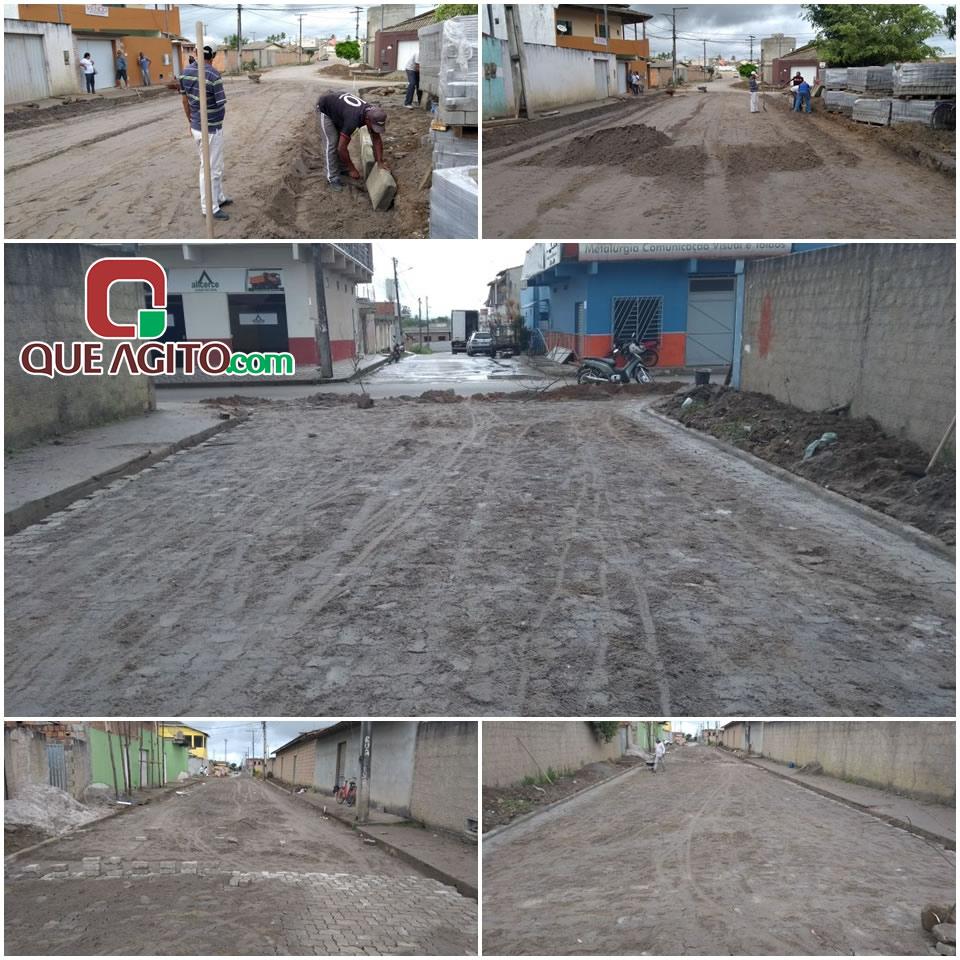 Prefeitura inicia pavimentação de mais duas ruas no Dinah Borges 45