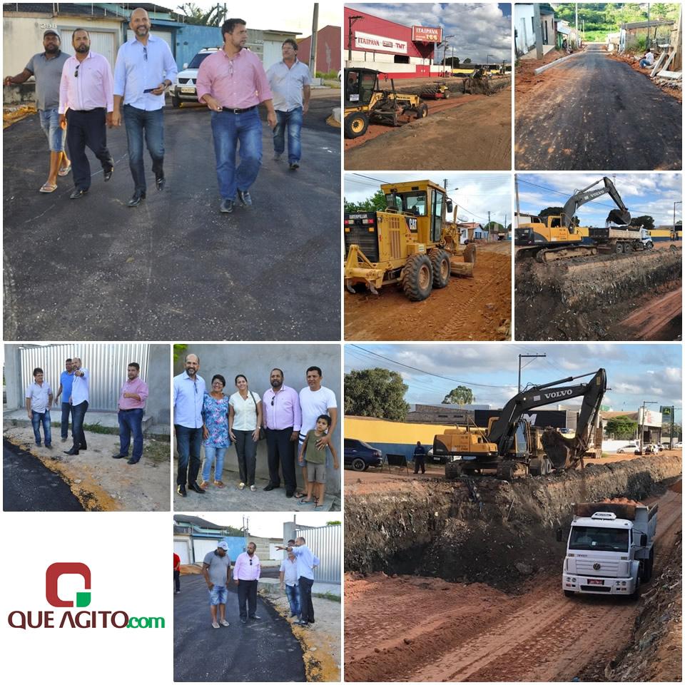 Prefeito Robério vistoria obras de pavimentação em diversos bairros 24