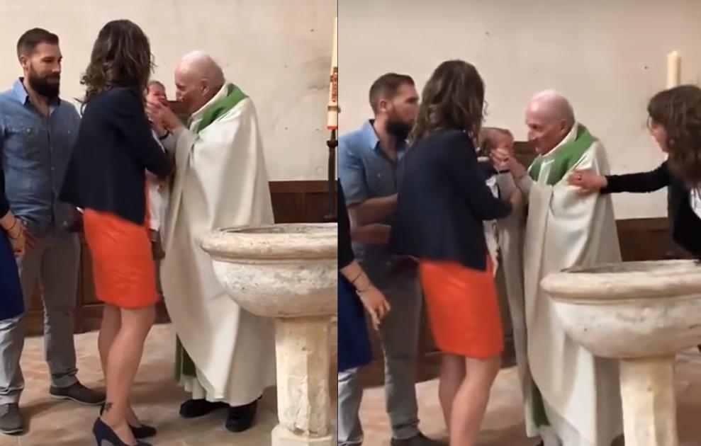 Vídeo de padre dando tapa em rosto de bebê que não parava de chorar e revolta internautas 46