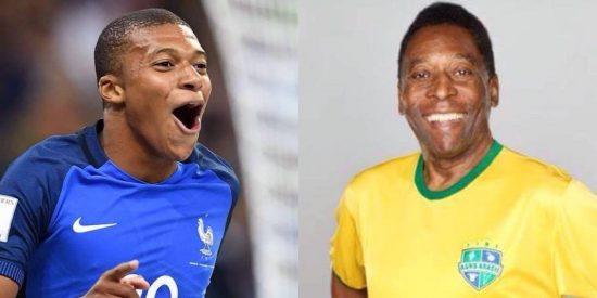 """""""Terei que tirar a poeira de minhas chuteiras"""", diz Pelé após feito de Mbappé 43"""