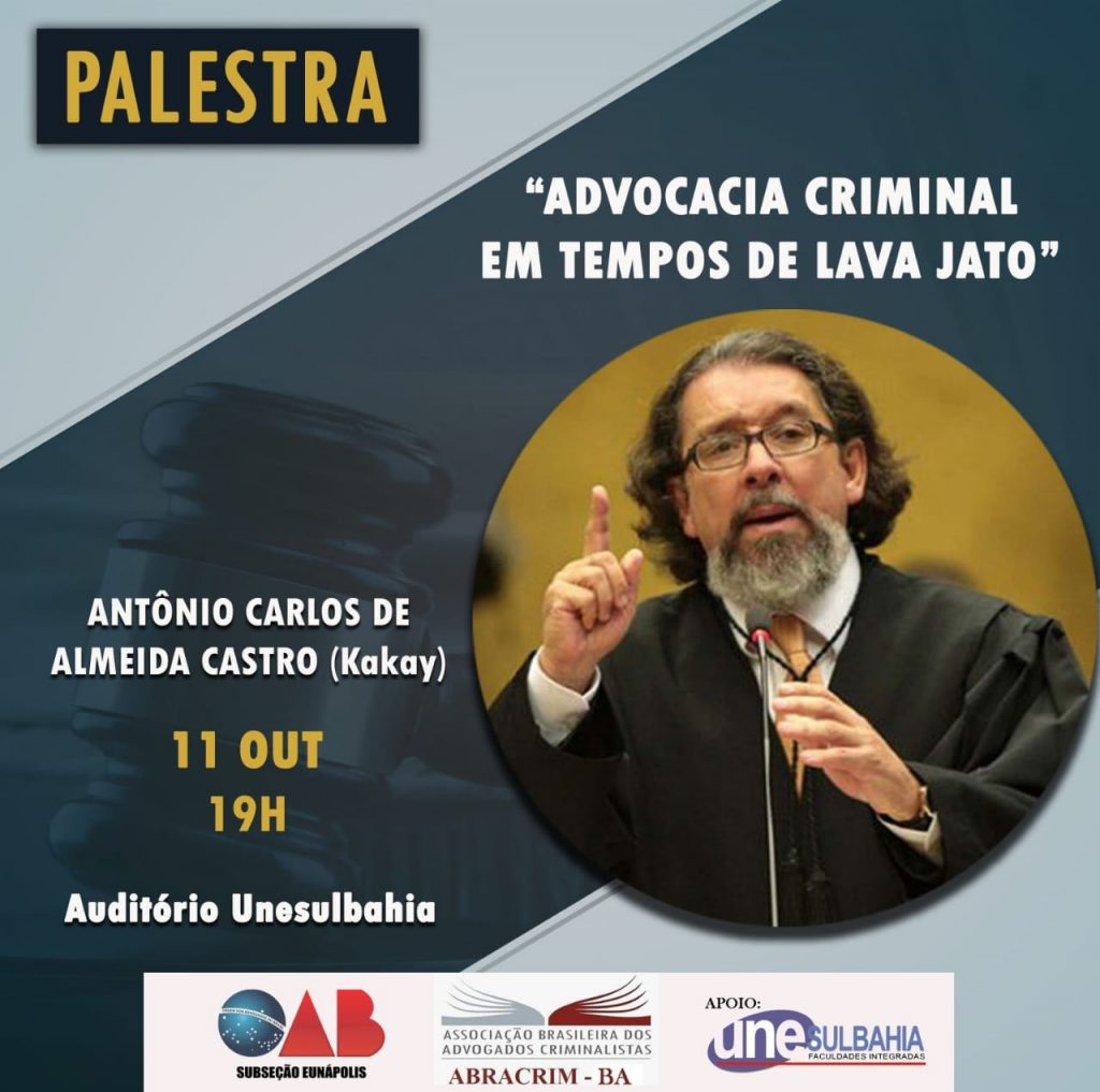 OAB promoverá palestra com o renomado advogado criminalista Antônio Carlos de Almeida Castro (Kakay) em Eunápolis 38