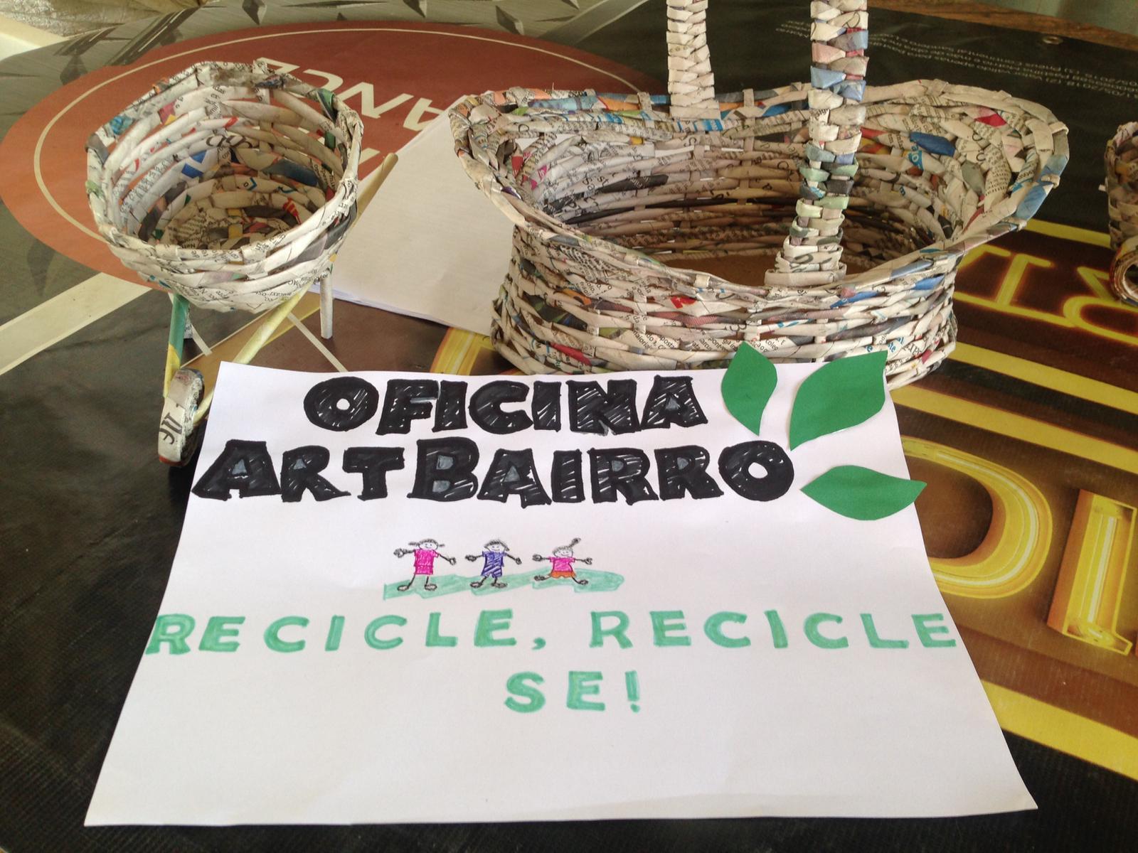 Aberta as inscrições para oficina de artesanato de jornal em Eunápolis com inscrição gratuita e vagas limitadas 35