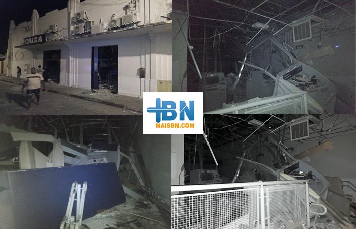 Bandidos fortemente armados assaltam agência da Caixa Econômica em Belmonte. 45