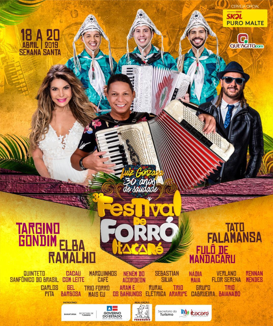 Grandes atrações nacionais vão estar em Itacaré litoral sul da Bahia no 3° Festival de Forró 26