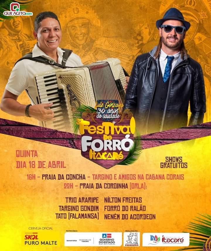 Grandes atrações nacionais vão estar em Itacaré litoral sul da Bahia no 3° Festival de Forró 8