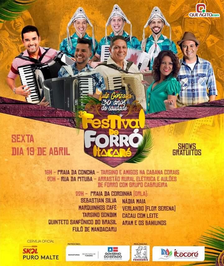 Grandes atrações nacionais vão estar em Itacaré litoral sul da Bahia no 3° Festival de Forró 9