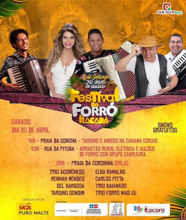 Grandes atrações nacionais vão estar em Itacaré litoral sul da Bahia no 3° Festival de Forró 10