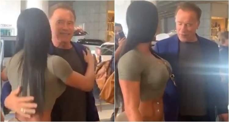 Belo que se cuide! Arnold Schwarzenegger fica encantado com Gracyanne Barbosa 22