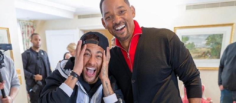 Will Smith aparece de surpresa para Neymar e jogador se emociona 1