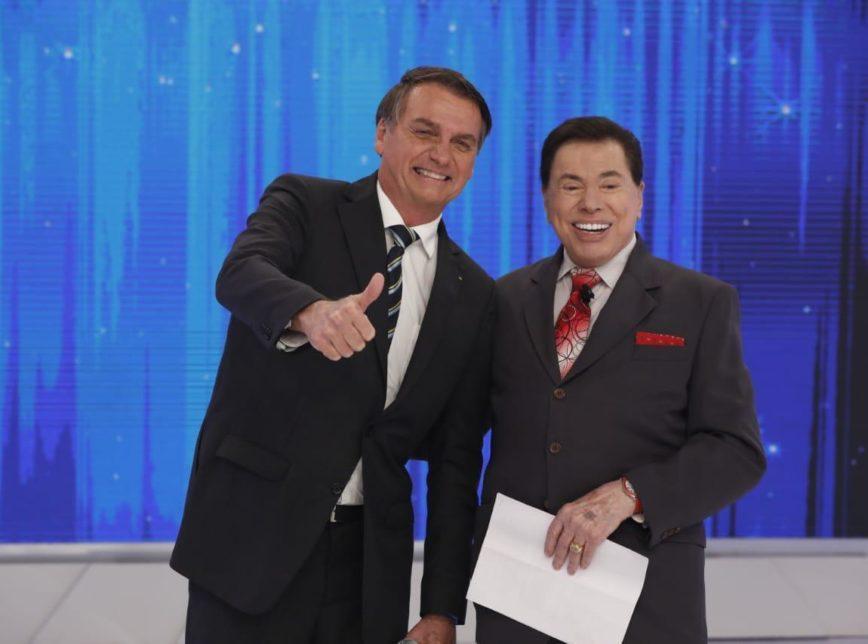 Em São Paulo, Bolsonaro grava com Silvio Santos: 'maior comunicador deste país' 1