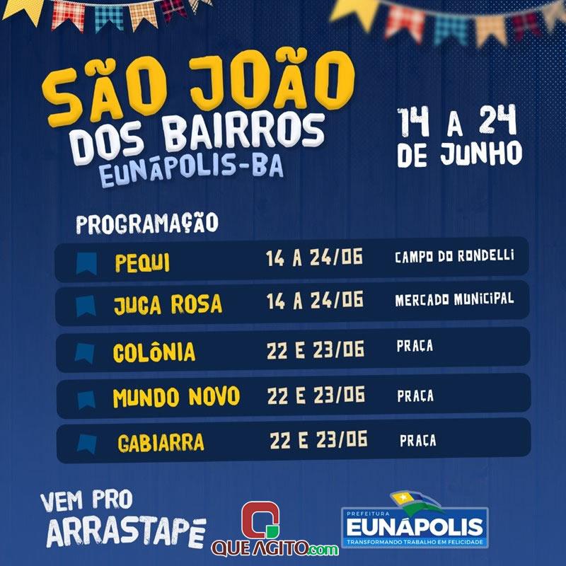 São João dos Bairros 2019 começa hoje (14/06) em Eunápolis 1