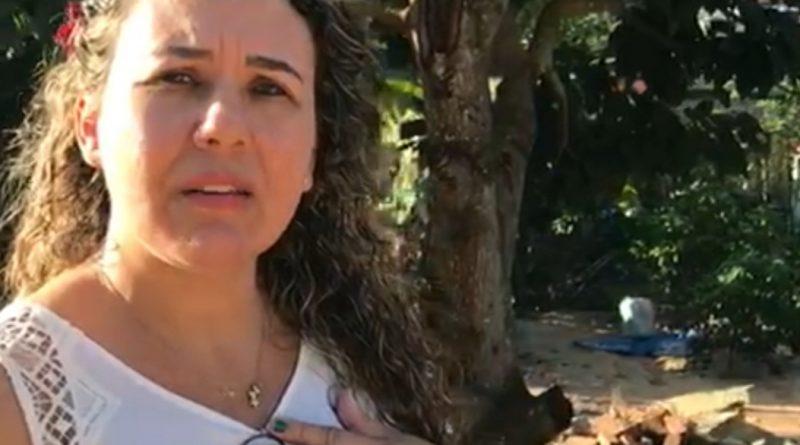 Cordélia visita Rua da Bica, solidária a família desabrigada em Eunápolis. Assista video 1