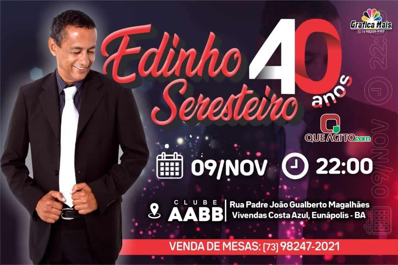 Comemoração de 40 anos de carreira de Edinho Seresteiro - Eunápolis 1