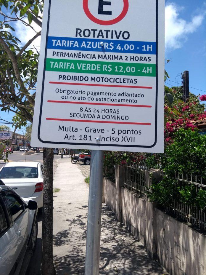 Cobrança na Zona Azul de Porto Seguro começa neste Sábado (12); placa de Porto Seguro terá desconto 1