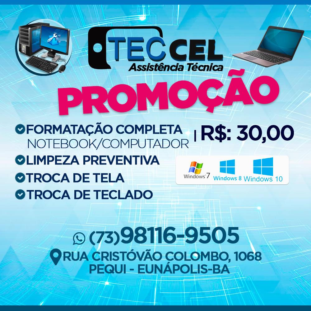 Eunápolis: Promoção Formatação de Notebook & Computadores Por R$ 30,00 Reais - Teccel  Informática 1