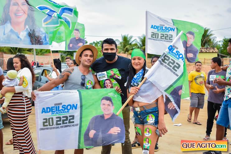 Candidato a vereador Adeilson do Açougue lança campanha com grande caminhada 62