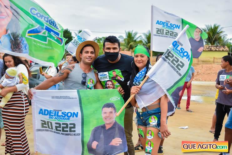 Candidato a vereador Adeilson do Açougue lança campanha com grande caminhada 65
