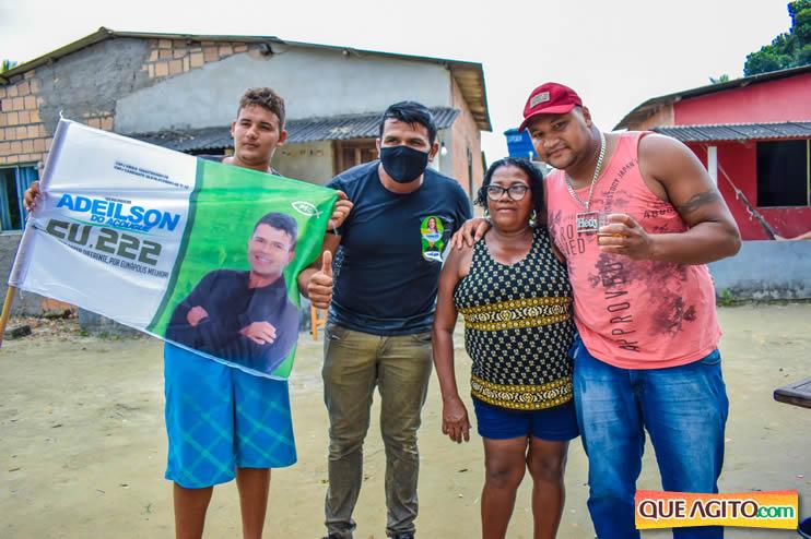 Candidato a vereador Adeilson do Açougue lança campanha com grande caminhada 128