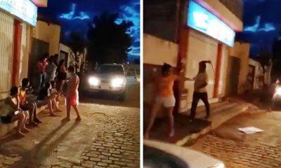 Prefeito de Barra do Mendes usa cinto para agredir moradores que protestavam na frente da casa dele 16