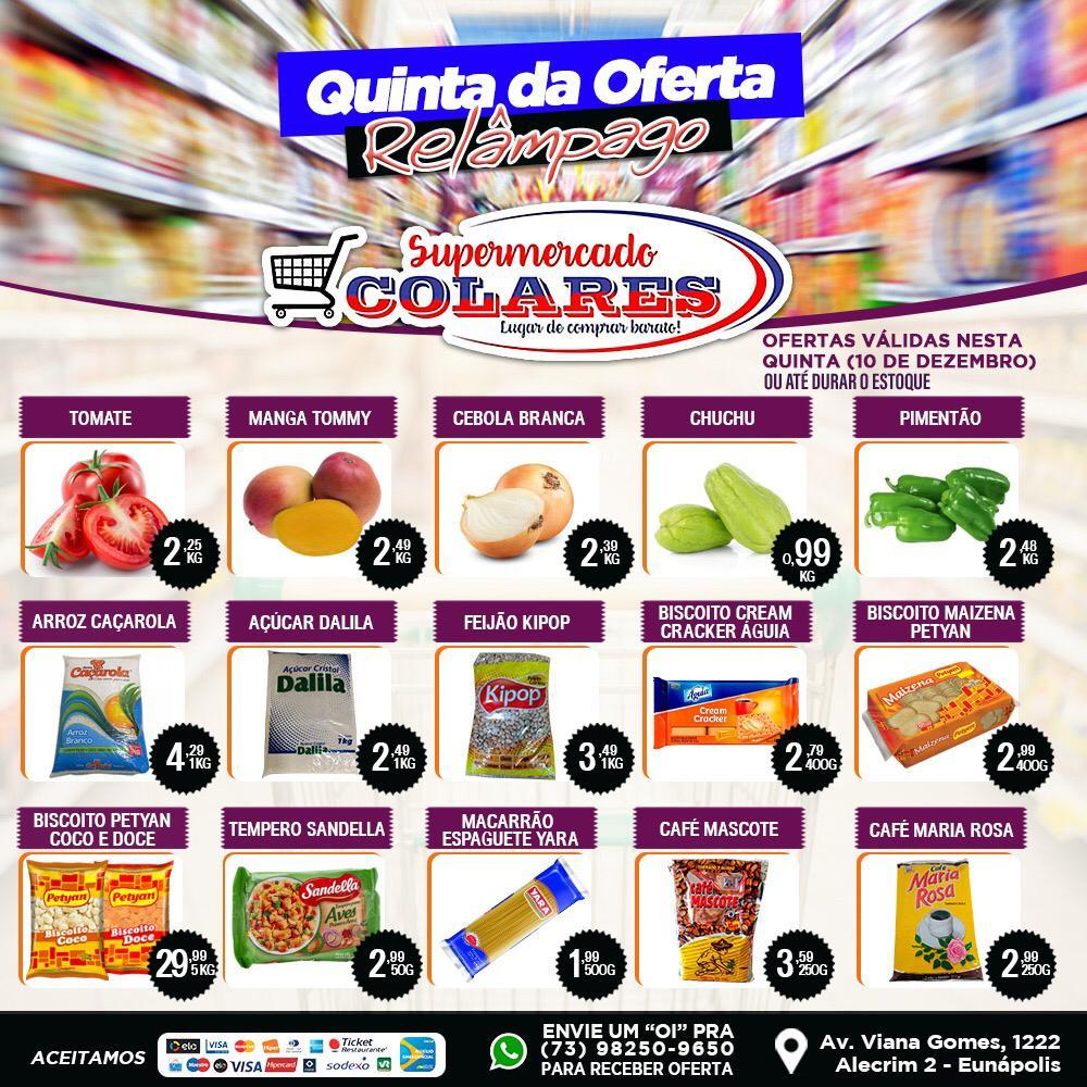 Confira as Ofertas desta Quinta Relâmpago do Supermercado Colares! 22