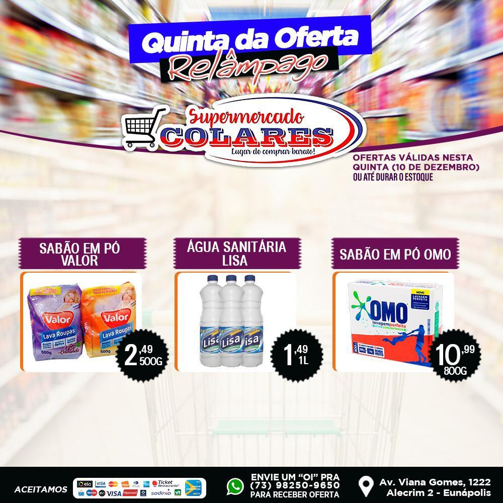 Confira as Ofertas desta Quinta Relâmpago do Supermercado Colares! 24
