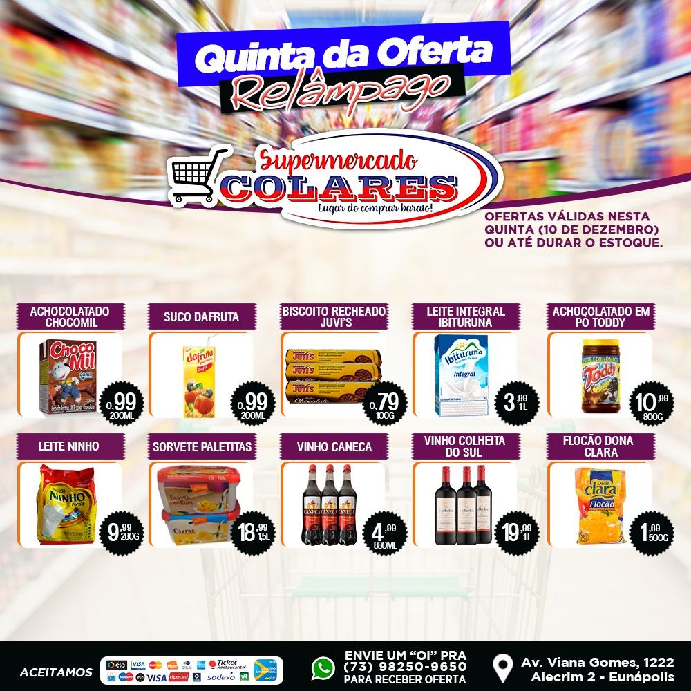 Confira as Ofertas desta Quinta Relâmpago do Supermercado Colares! 23