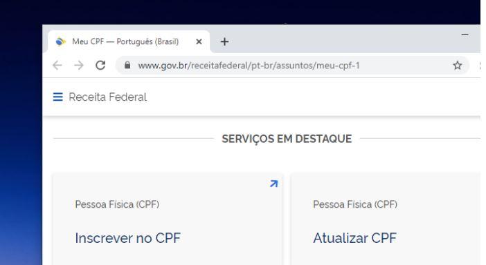 Receita Federal ganha seção para regularizar CPF pela internet 18