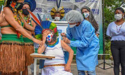Indígenas da Reserva da Jaqueira recebem primeiras doses da vacina contra a Covid-19 7