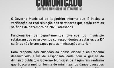COMUNICADO - GOVERNO MUNICIPAL DE ITAGIMIRIM 26
