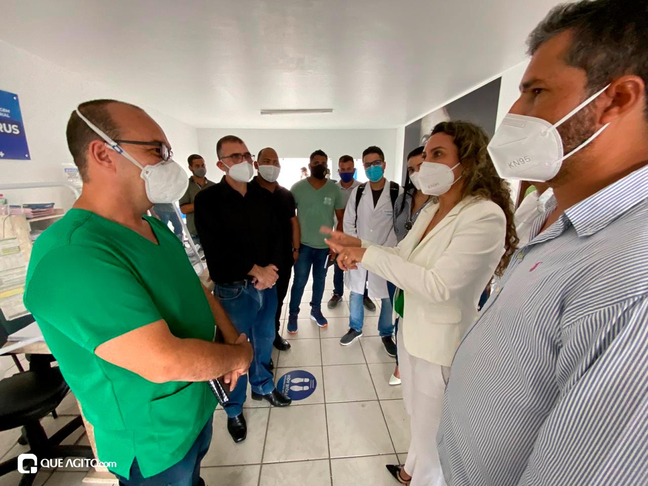 Cordélia visita Hospital de Campanha e garante retorno do funcionamento da Área de Testagem 32