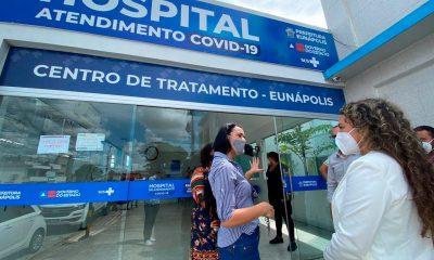 Cordélia visita Hospital de Campanha e garante retorno do funcionamento da Área de Testagem 31