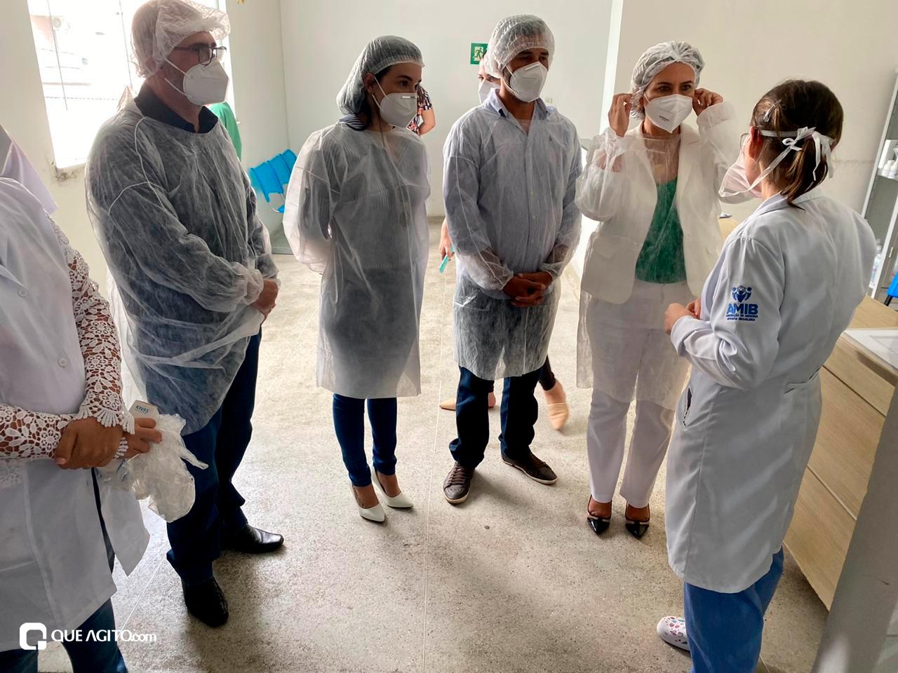 Cordélia visita Hospital de Campanha e garante retorno do funcionamento da Área de Testagem 30