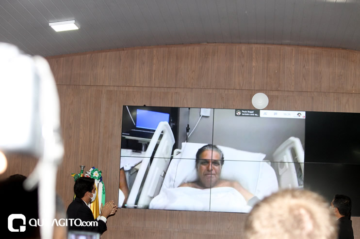 Cordélia toma posse e ex-prefeito Paulo Ernesto participa por vídeo-chamada 118