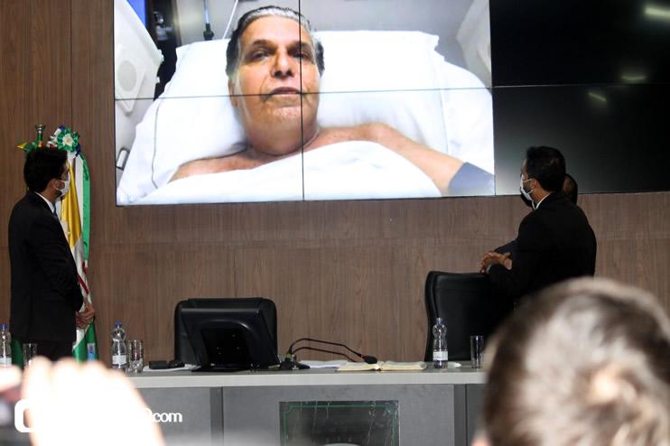 Cordélia toma posse e ex-prefeito Paulo Ernesto participa por vídeo-chamada 122