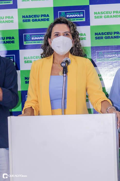 Cordélia Torres recebe ACM Neto em Eunápolis 101