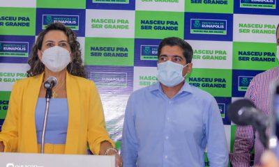 Cordélia Torres recebe ACM Neto em Eunápolis 12