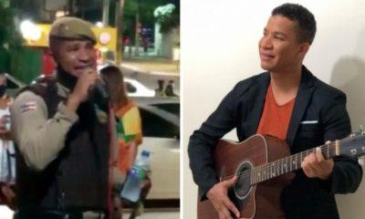Vídeo de PM flagrado cantando em bar viraliza e incomoda corporação 43