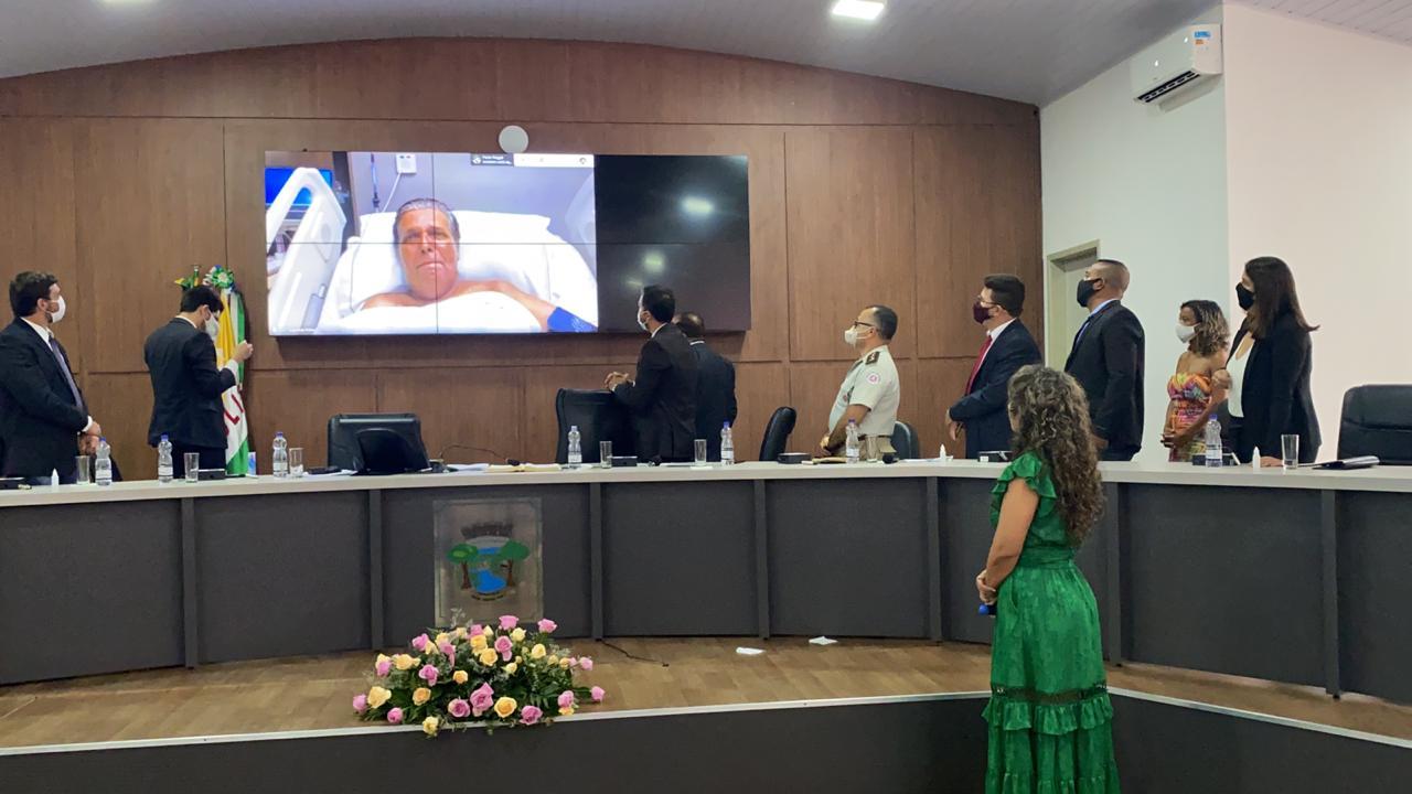 Cordélia toma posse e ex-prefeito Paulo Ernesto participa por vídeo-chamada 37