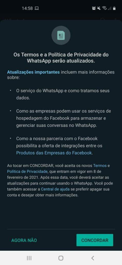 WhatsApp vai suspender contas que não aceitarem compartilhar dados com o Facebook 21